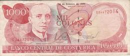 BILLETE DE COSTA RICA DE 1000 COLONES AÑO 1999 SERIE D  (BANKNOTE) - Costa Rica