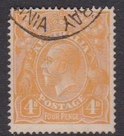 Australia SG 22b 1915 King George V,4d Pale Orange-yellow, Used - Used Stamps