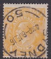 Australia SG 22c 1915 King George V,4d Lemon 18.00, Used - Used Stamps