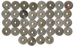 Lot De 36 Pièces De Monnaie 5 Centimes  Lindauer  1921 à1938 - France