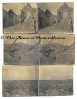 WWI - RUINES ET TRANCHEES APRES BOMBARDEMENTS - LOT DE 3 PHOTOS STEREO MILITAIRES - Guerre, Militaire
