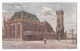 Oostende La Gare Oude Postkaart Station CPA Ostende - Oostende