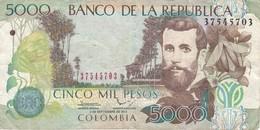 BILLETE DE COLOMBIA DE 5000 PESOS DEL AÑO 2013  (BANKNOTE) - Colombia