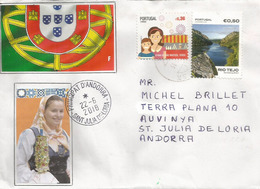 Feira De São Mateus. Viseu, Belle Lettre Du Portugal Adressée Andorra, Avec Timbre á Date Arrivée - 1910-... Republik