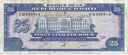 BILLETE DE HAITI DE 25 GOURDES DEL AÑO 1993   (BANK NOTE) - Haiti