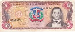 BILLETE DE LA REPUBLICA DOMINICANA DE 5 PESOS ORO DEL AÑO 1996  (BANKNOTE) - República Dominicana