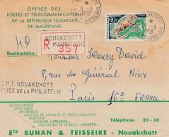 Maurtanie Nouakchott Enveloppe Publicitaire Poste République Islamique Recommandée 11 9 1963  .. Caméleon - Mauritania (1960-...)