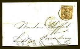 LETTRE FRANCE POUR SUISSE- TIMBRE TYPE SAGE N°69 BRUN- 30ct. 1878-  3 SCANS - Storia Postale