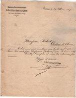 VP12.455 - Lettre - Banque & Recuvrements D. FOY Fils Aîné & J. LEON à BORDEAUX - Bank & Insurance