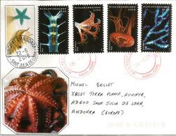 USA.  Deep-sea Marine Bioluminescent Animals, On Letter San Mateo County, Calif., Sent To Andorra, With Arrival Postmark - Maritiem Leven