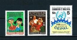 Bolivia  Nº Yvert  570-578-594  En Nuevo - Bolivia