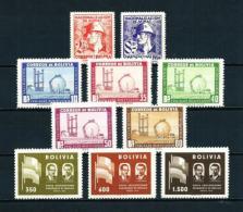 Bolivia  Nº Yvert  349/50-355/9-378/80  En Nuevo - Bolivie