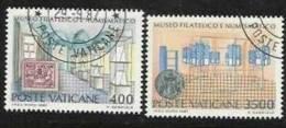 1987 Vaticano Vatican MUSEO FILATELICO  PHILATELIC MUSEUM Serie Di 2v. Usata Con Gomma USED - Used Stamps