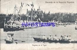 95078 ARGENTINA BUENOS AIRES TIGRE REGATAS & BOAT POSTAL POSTCARD - Argentina