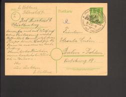 Bizone 10 Pfg.Ganzsache P 7 Holstentor V.1951 A.Murrhardt (Württ) Mit Ortswerbestempel - Bizone