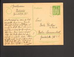 Bizone 10 Pfg.Ganzsache P 7 Holstentor V.1951 A.Bielefeld - Bizone