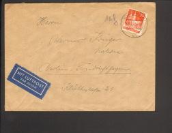 Bizone 25 Pfg.Bauten Einzelfrankatur A.Luftpostbrief V.1949 A.Haan (Rheinl), - Bizone