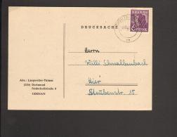 Alli.Bes.6 Pfg.Arbeiter A.Drucksache Aus Dortmund 1947 Vermählungsanzeige - Gemeinschaftsausgaben