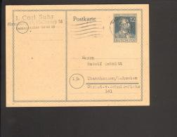 Alli.Bes.12 Pfg.Stephan-Ganzsache Aus Hamburg 1947 - Gemeinschaftsausgaben