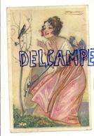 Jeune Femme Et Oiseau. Signée Mauzan. 1919 - Mauzan, L.A.