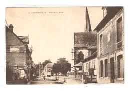 CPA 76 OFFRANVILLE Rue De La Poste Maisons église - Offranville