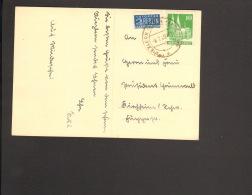 Riezlern Kleinwalsertal 10 Pfg.Bauten U.Notopfer Auf AK Von 1949 N.Deutschland - Bizone