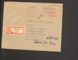 Einschreibebrief Aus Füssen M.Absender-Frei-Stempel V.1949 Mit Russischer Zensur Ankunftstempel - Bizone