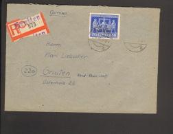 Alli.Bes.24 Pfg. Exportmesse Hannover A. Einschreibebrief 1948 A.Gruiten - Gemeinschaftsausgaben