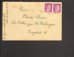 DR Fernbrief Mit 2 X 6 Pfg.Hitler Aus Ruhla V.7/1944 - Deutschland