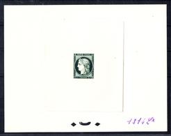 FRANCE - N° 830 - CENTENAIRE DU TIMBRE 1949 - EPREUVE N°1314 Lx VERT FONCE - LUXE - Artist Proofs