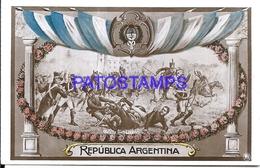 95088 ARGENTINA PATRIOTIC CENTENARIO BATALLA SAN LORENZO POSTAL POSTCARD - Argentina