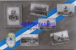 95089 ARGENTINA PATRIOTIC CENTENARIO FLAG & HERALDRY POSTAL POSTCARD - Argentina