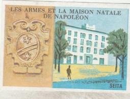 ETIQUETTE BOITE D ALLUMETTES SEITA LES ARMEES ET LA MAISON NATALE DE NAPOLEON ----------------------------------TDA103A - Boites D'allumettes - Etiquettes