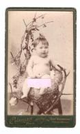 BAISSE DE PRIX !   Portrait Chez Le Photographe - Fille (girl) (Paris) (TBE, 10.5 X 6.3 Cm Sur Carton épais, 1873) - Unclassified