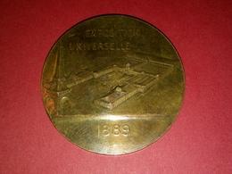 SUPERBE MÉDAILLE BRONZE EXPOSITION UNIVERSELLE 1889 Graveur Daniel Dupuis Et Chabaud DIAMÈTRE 3 CM 12.76 G - Other