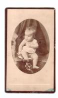 BAISSE DE PRIX !   Portrait Chez Le Photographe - Fille (girl) (Vichy - France)  (TBE, 10,3 X 6.2 Cm Sur Carton épais) - Unclassified