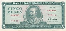 BILLETE DE CUBA DE 5 PESOS DEL AÑO 1985 DE ANTONIO MACEO EN CALIDAD EBC (XF)  (BANKNOTE) - Cuba