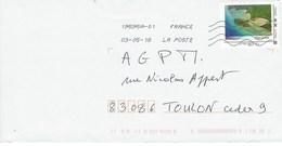 Lettre Verte MonTimbraMoi: PLAGE DE MOYA .MAYOTTE  (Période Ciappa) - Marcophilie (Lettres)