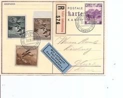 Liechtenstein ( Carte Postale De 1934 En Recommandé De Vaduz Vers La Suisse à Voir) - Briefe U. Dokumente