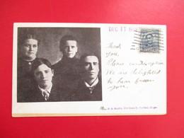CPA ETATS UNIS FAMILLE DECEMBRE 1908 - Portland