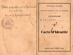 VP12.459 - Mairie D' ETOGES 1939 - Carte D'Identité De Mme RIDET Née à MAUCOUPOT ( Marne ) - Maps