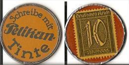 Kapselgeld Notgeld Kapselmarke Briefmarkengeld Timbre Monnaie Kleingeldersatz Pelikan Tinte - Non Classés