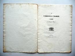 A Carolina Ungher Carme Di Prospero Viani Torreggiani 1837 Contralto Opera - Livres, BD, Revues