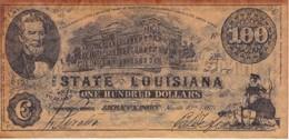 BILLETE DE ESTADOS UNIDOS DE LOUISIANA DE 100 DOLLARS DEL AÑO 1863  (BANKNOTE) - Confederate Currency (1861-1864)
