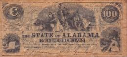 BILLETE DE ESTADOS UNIDOS DE ALABAMA DE 100 DOLLARS DEL AÑO 1864  (BANKNOTE) - Confederate Currency (1861-1864)