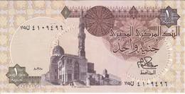 BILLETE DE EGIPTO DE 1 POUND DEL AÑO 1981 (BANK NOTE) - Egipto