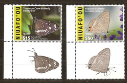 Tonga Niuafo'ou 2015 Yvertn° PA LP 5-6 *** MNH Cote 130 Euro Faune Papillons Vlinders Butterflies - Tonga (1970-...)
