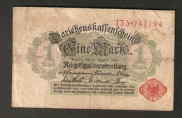 T. Germany German Empire  1 Mark 1914 - Ser. 135 . 741194 - [ 2] 1871-1918 : Duitse Rijk