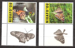 Tonga Niuafo'ou 2015 Yvertn° PA LP 7-8 *** MNH Cote 190 Euro Faune Papillons Vlinders Butterflies - Tonga (1970-...)