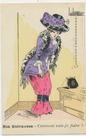 Scatologie Urinating Nice Girl Going To The Toilets With Tight Dress.Entravées .How I Will Do ?  Boel. Epingle Chapeau - Illustrateurs & Photographes
